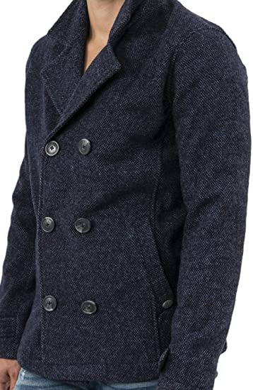 Mens Wool Blend Jacket Tokyo Laundry Trench Coat Hoodie Military Duffle GIORDANO