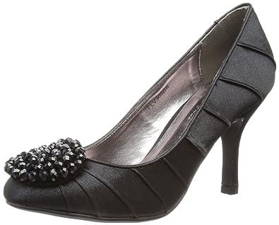 FLR211, Peep-Toe femme - Noir - noir, 40 (7 UK)Lunar