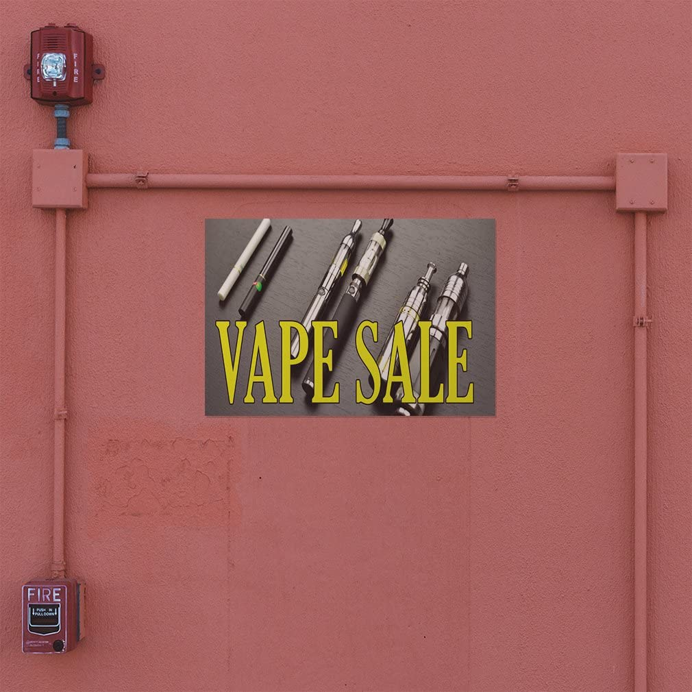 Decal Sticker Multiple Sizes Vape Sale #1 Business Vape Sale Outdoor Store Sign Grey One Sticker 28inx20in