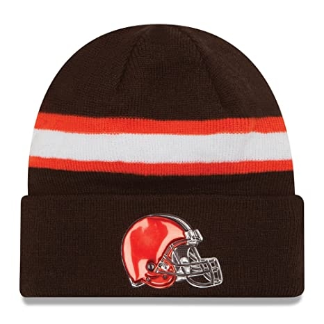 c26e2b2f Amazon.com : Cleveland Browns New Era Brown Color Rush On-field Knit ...