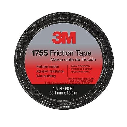 3m 57173 s 10 temflex friction tape 1755 black 1 5 inches x 60 rh amazon com Wire Harness Non Adhesive Tape Wire Harness Tape 19Mm