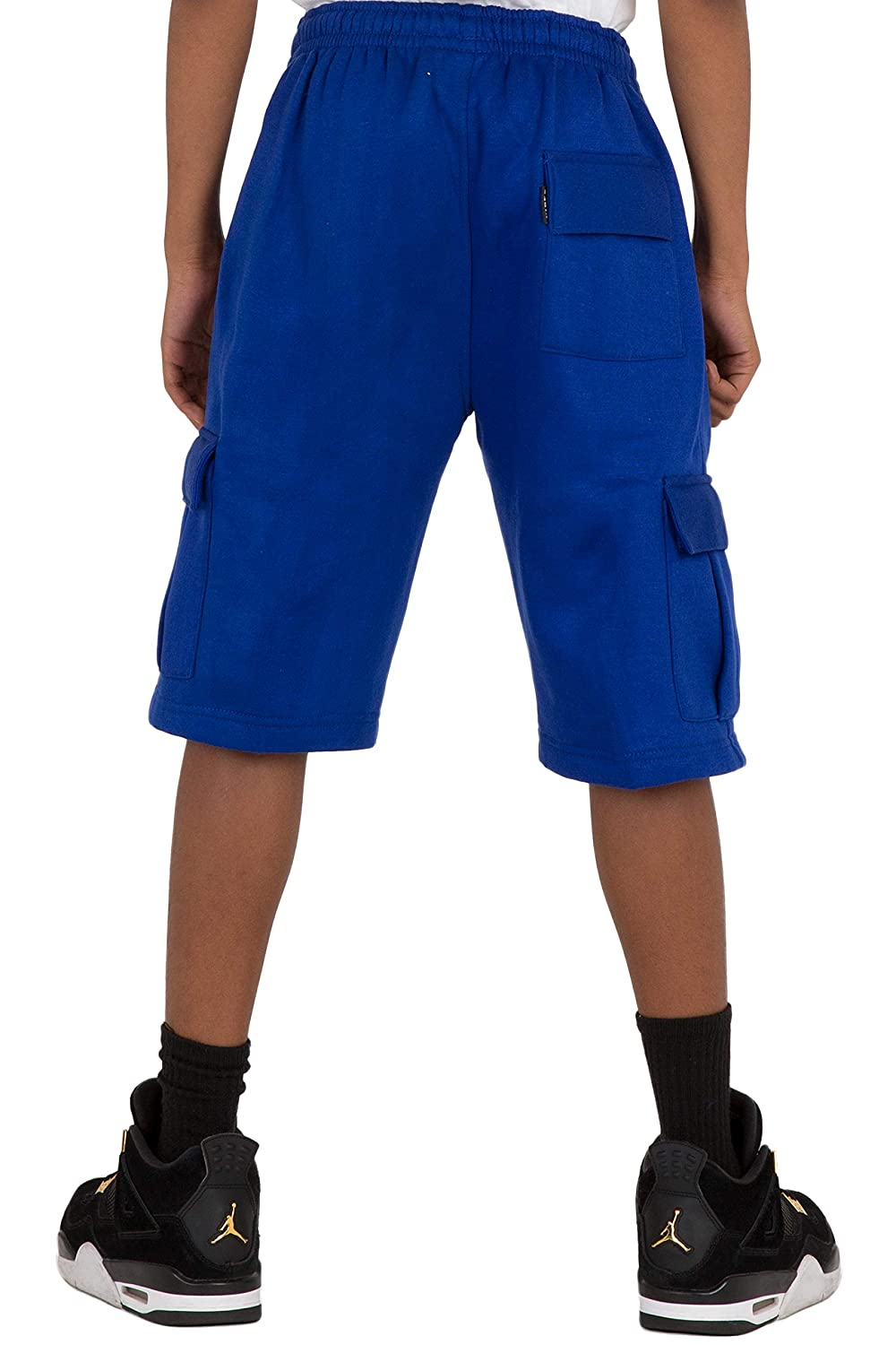 Vibes Boys CVC Fleece Cargo Pull On Shorts Royal Blue Color Relax Fit