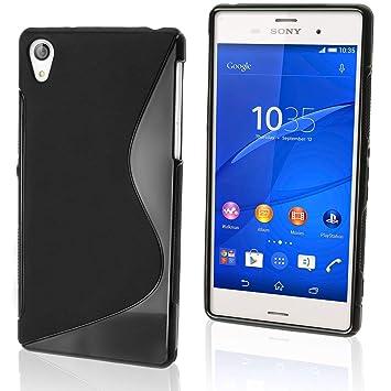 best service 00349 465ca Sony Xperia L1 TPU S Line Gel Case (Black s Gel Case)