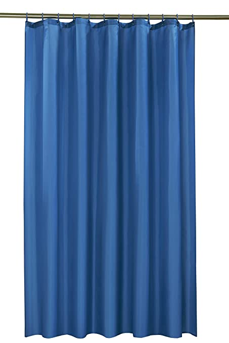 Vibrant Blue Polyester Shower Curtain Including 12 Rings By Waterline Amazoncouk Kitchen Home