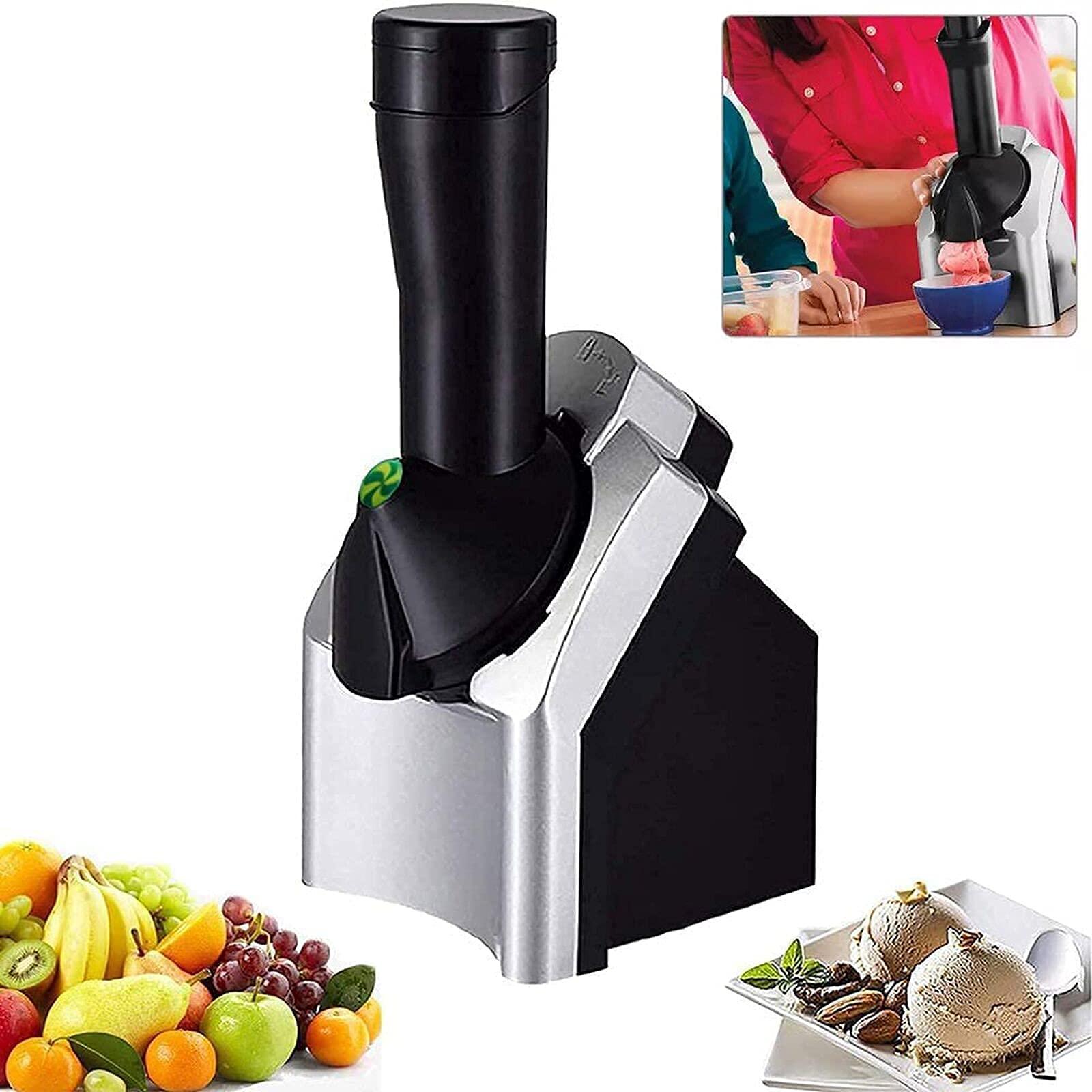 Home Ice Cream Maker MachinePortable Household Use Soft Serve Ice Cream MachineMake