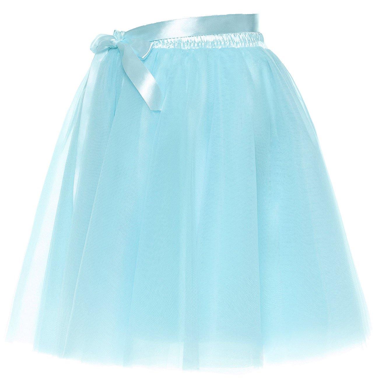 9388c217d5849a BeiQianE Frauen Kurze Bowknot überlagert Tüll Petticoat Slip Party ...