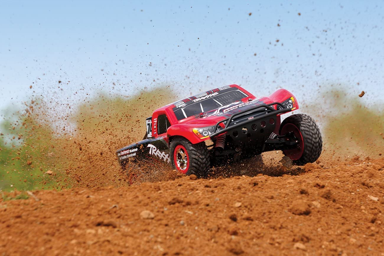 and Tsm Red//Black Oba Traxxas 58076-24 Slash Vxl 2WD 1//10 Brushless Short Course Truck with Tqi 2.4GHz Radio