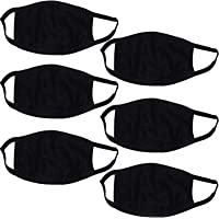 PINKIT Dust/Anti Pollution Protect Face Mask Mouth & Nose Respirator (Pack Of 6),Black