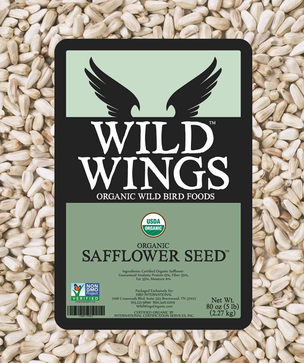 Wild Wings Organic Safflower Seed 5lb by Wild Wings