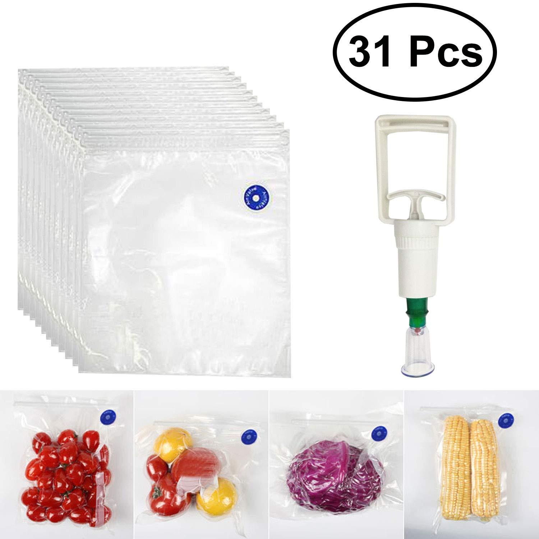 Sous Vide - 30 bolsas de compresión reutilizables y frescas ...