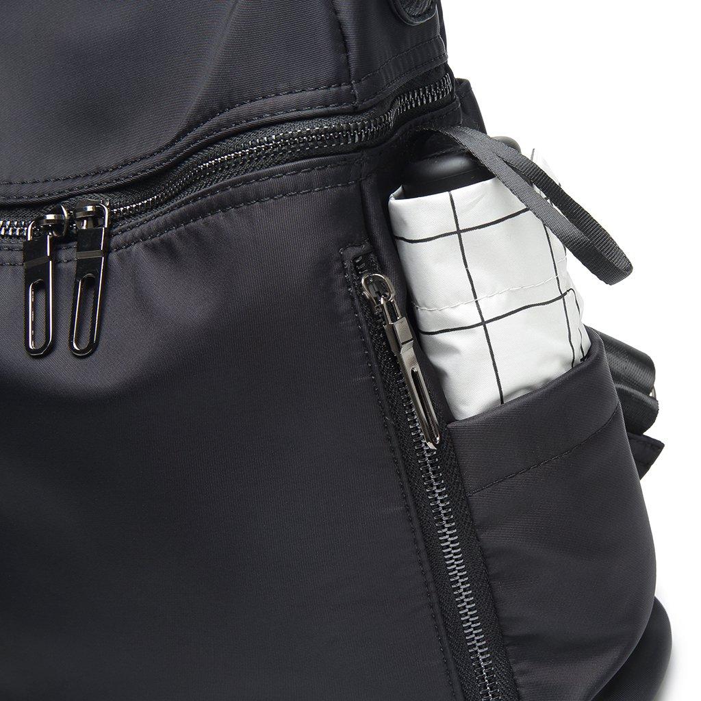 Thobu Women Fashion Nylon Backpack Purse Lightweight Schoolbag Travel Casual Daypack-Black by Thobu (Image #3)