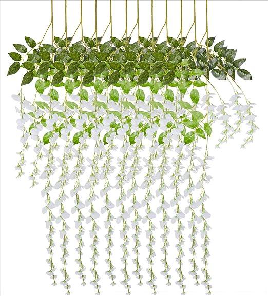 Wedding Garland Rattan Artificial Eucalyptus Vivid Centerpieces Home Party Decor