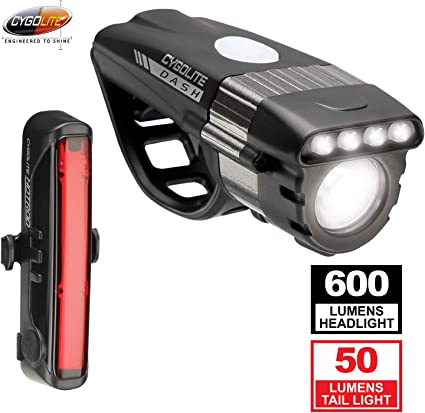 Cygolite Dash Pro 600 Lumens LED Road Bike Headlight USB Rechargeable 8-Modes