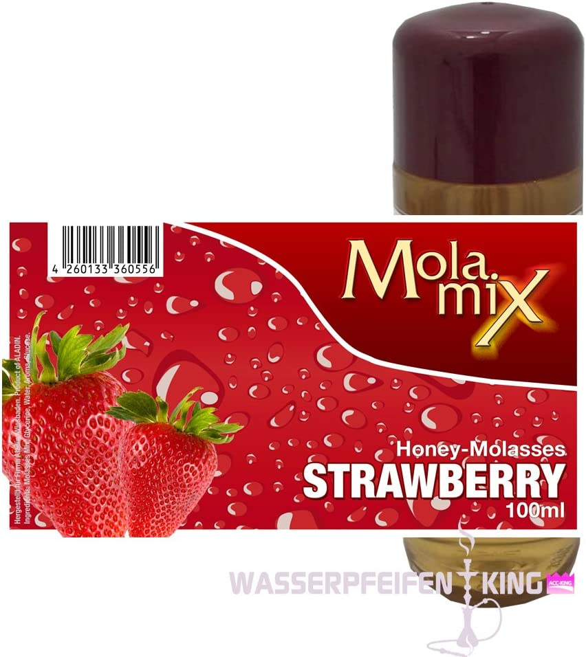 Mola Mix - DE FRESA 100 ML - Shisha Tabaco Mezcla melaza