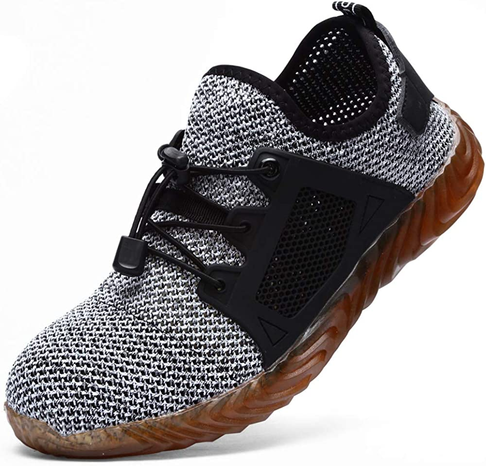 Steel Toe Shoes for Men or Women Indestructible Lightweight Non-Slip Breathable Construction Shoe