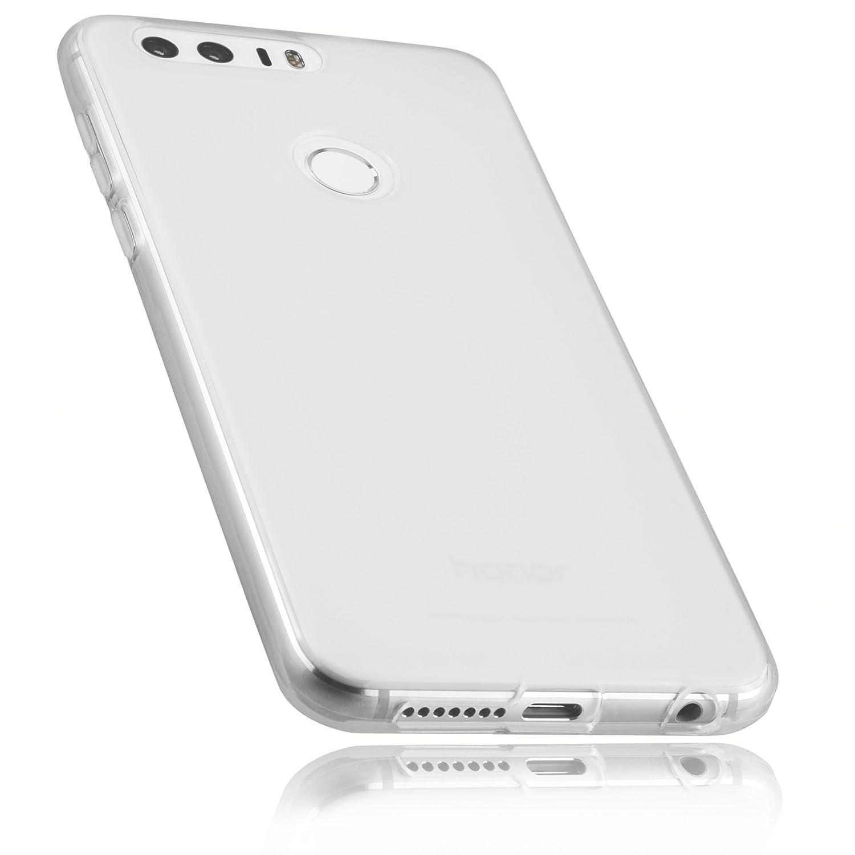 mumbi Funda Compatible con Huawei Honor 8 Caja del teléfono móvil, Blanco Transparente: Amazon.es: Electrónica