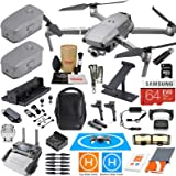 DJI Mavic 2 Zoom Drone Quadcopter and Fly More Kit Combo w/ 3 Batteries, Professional Camera Gimbal Bundle with Must Have Accessories