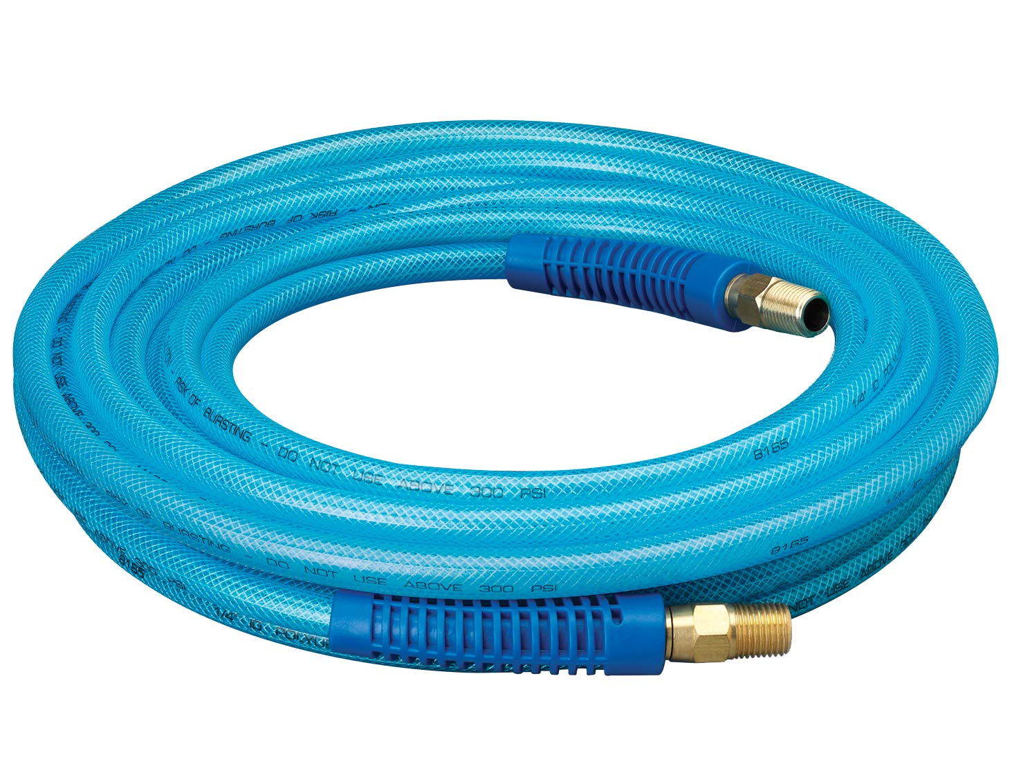 """Plews & Edelmann Amflo 12-25E Polyurethane Air Hose - Non-marring, Smooth Finish, Easy to carry, Lightweight, Cold Weather Flexible, Great Indoors or Out, 1/4"""" X 25', Blue, 25 ft: Air Tool Hoses: Industrial & Scientific"""