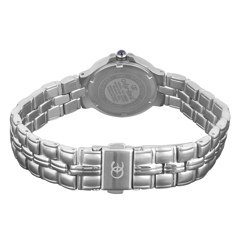 Oskar Emil - klassische Uhren - Marrakech Oskar Emil Damenuhr 500L women's Watch Armbanduhr Analog Edelstahl silber