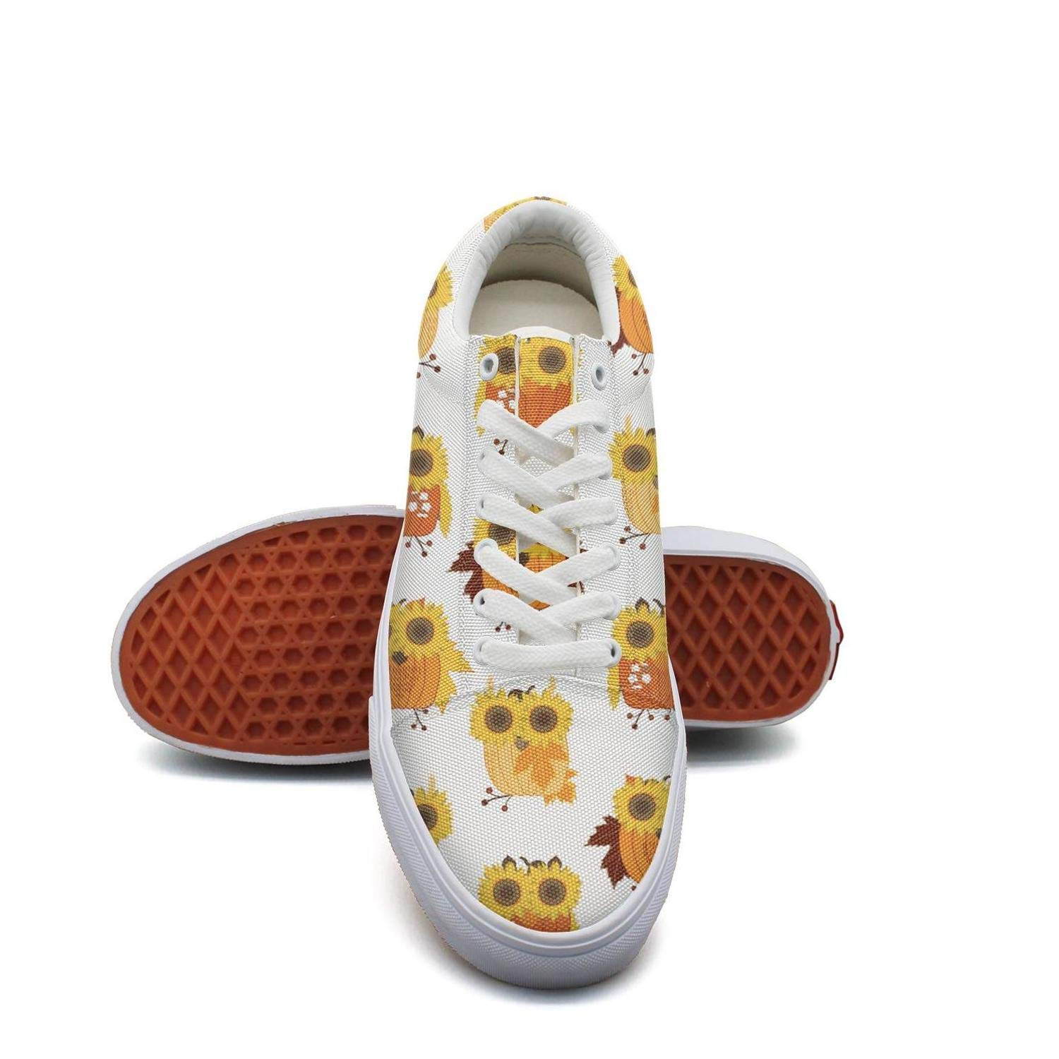 MSSDFF Bees Leaves and Sunflowers Comfortable Basketball Shoes for Women