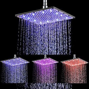 7 Color Changing LED Shower Head Light Up Water Power Bathroom Sprinkler Gift