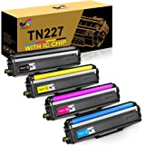 ONLYU Compatible Toner Cartridge Replacement for Brother TN227 TN-227 TN227BK TN223 TN 227 for HL-L3210CW HL-L3230CDW HL…