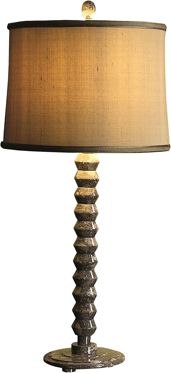 31 Tall Marble Table Lamp Quasar With Linen Shade Dark Gray