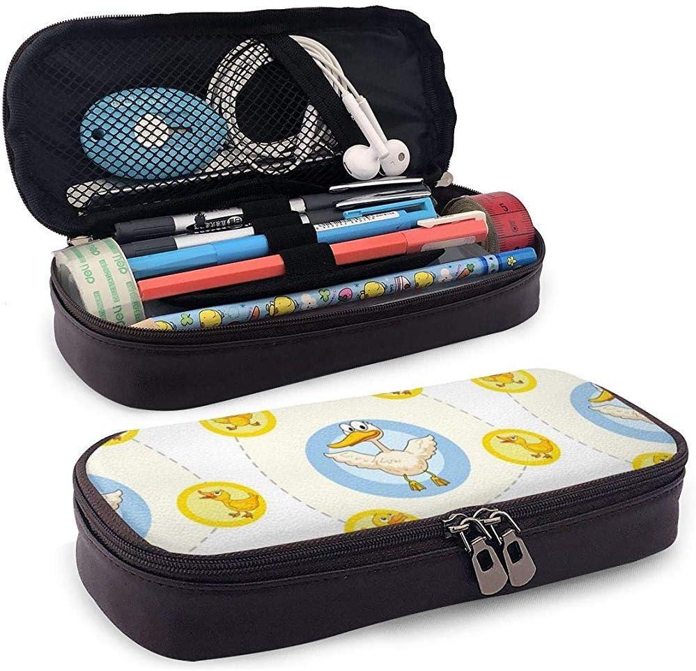 Estuche de lápices de cuero de pato de goma Estuche lindo de estuches de lápices: Amazon.es: Oficina y papelería