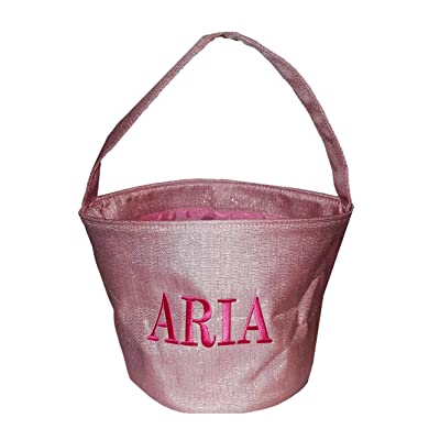 Custom - Shimmer Childrens Fabric Bucket Tote Bag - Toys - Easter Basket