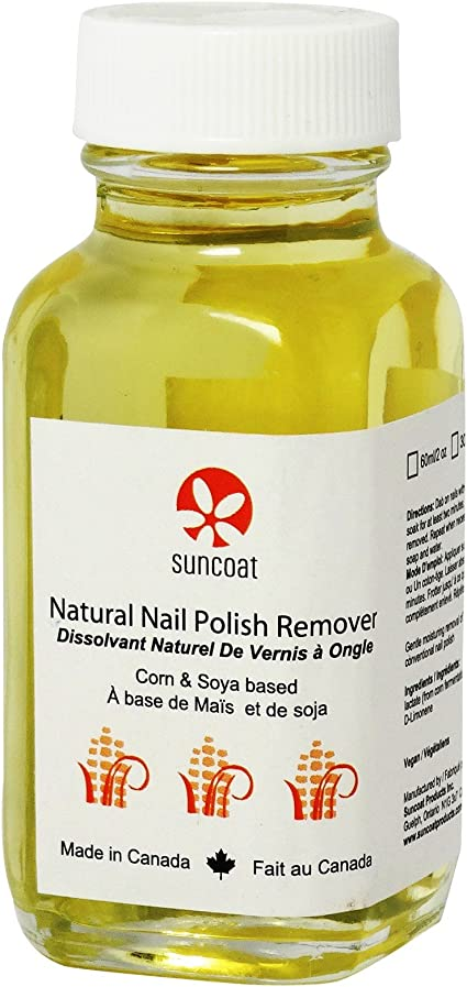 SUNCOAT - Removedor natural de esmalte de uñas - Enriquecido con vitamina E - No se seca las uñas - Biodegradable y vegano - 30 ml: Amazon.es: Belleza