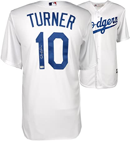Justin Turner Los Angeles Dodgers Autographed Majestic White Replica ... c491842141a
