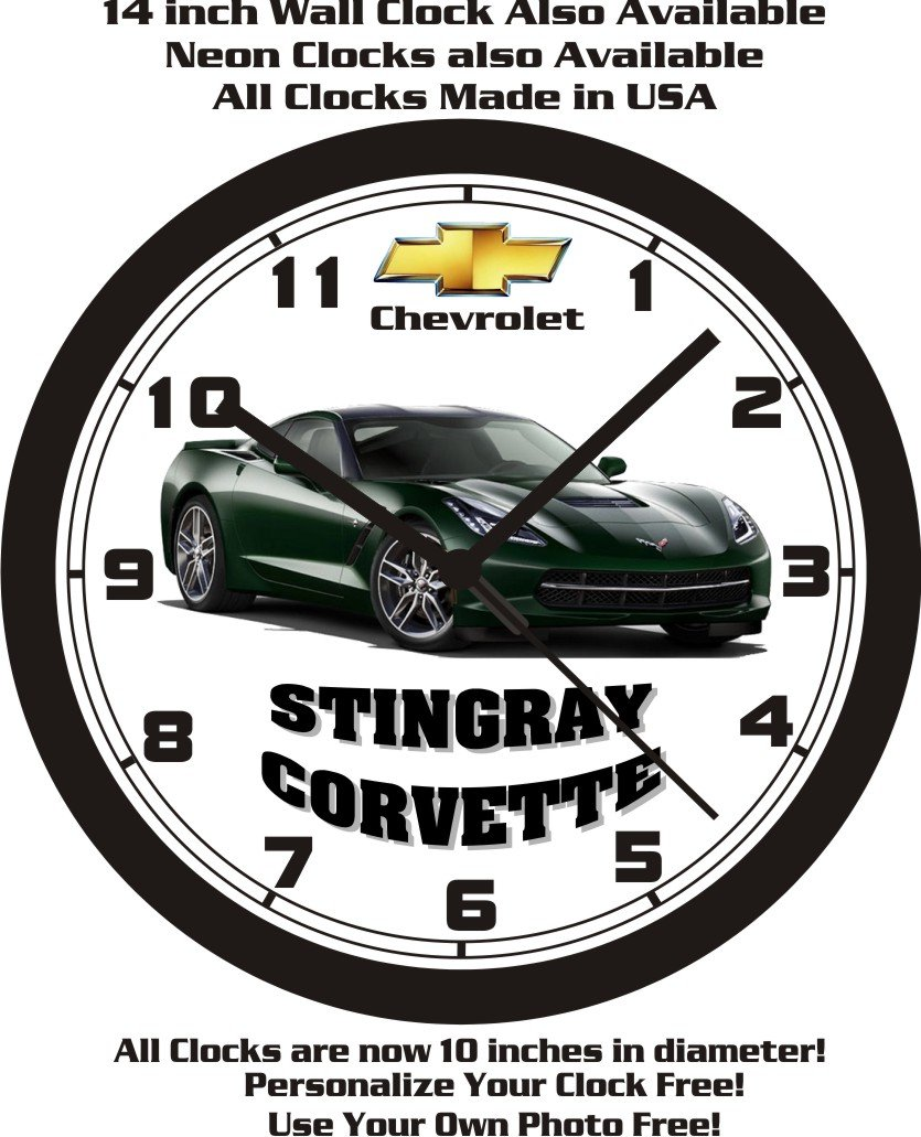 Amazon 2014 2016 chevrolet stingray corvette wall clock amazon 2014 2016 chevrolet stingray corvette wall clock choose your color free us ship home kitchen amipublicfo Gallery