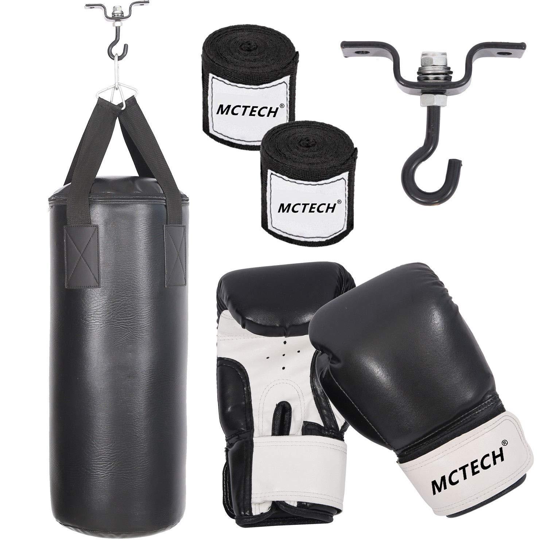 Soporte de Pared Saco de Boxeo para Adultos con Soporte para Guantes HENGMEI