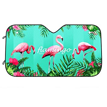ABYED Flamingos Car windshield sun shade Universal Fit Car sunshade-Keep Your UV