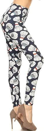 Leggings Depot Women's Ultra Soft Printed Fashion Leggings BAT30