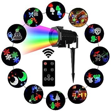 66456c59b93 Luz de Proyección LED Navidad impermeable Proyectores lámpara proyector  paisaje illuminazione-10 portaobjetos modello-indoor Outdoor Jardín  Decoración de ...