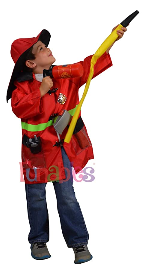 Amazon.com: Bombero Disfraz de para children-fire Fighter ...