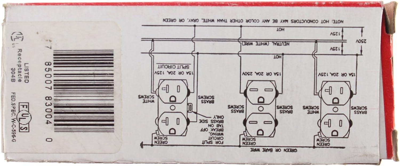 [DIAGRAM_38EU]  Pass & Seymour Legrand 8300-HRED Hospital Grade Receptacles Slim Duplex  Outlet 20A, Red - - Amazon.com | Hospital Grade Wiring Diagram |  | Amazon.com