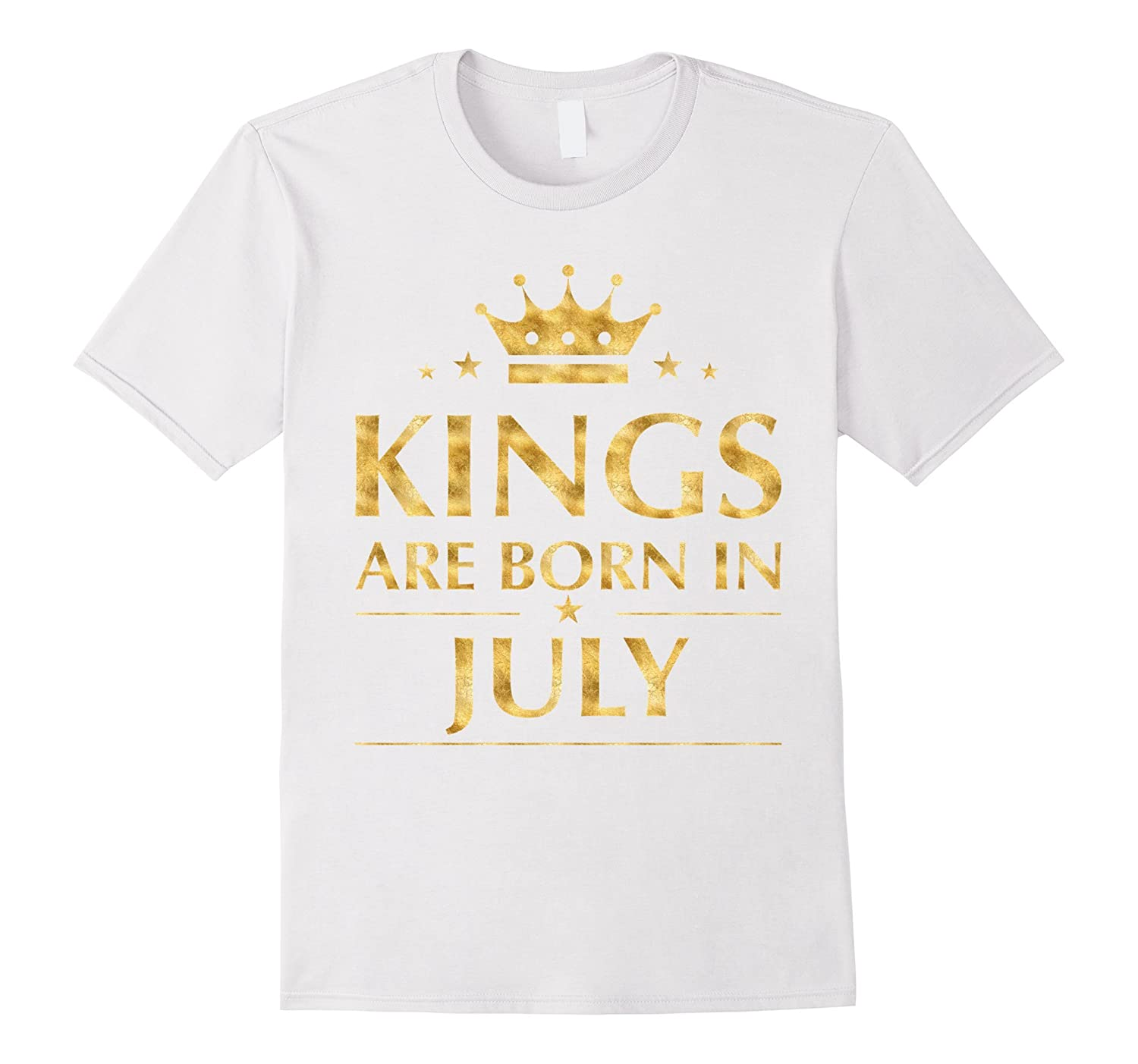 eb4d2b268 Mens Kings are born in July T-Shirt Gold Foil Edition Shirt-RT ...