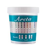 25 Pack Areta 14 Panel Drug Test Cup Kit with Temperature Strip, Instant Testing 14 Drugs Buprenorphine (BUP),THC,OPI 2000, AMP,BAR,BZO,COC,MET,MDMA,MTD,OXY,PCP,PPX,TCA-#ACDOA-1144