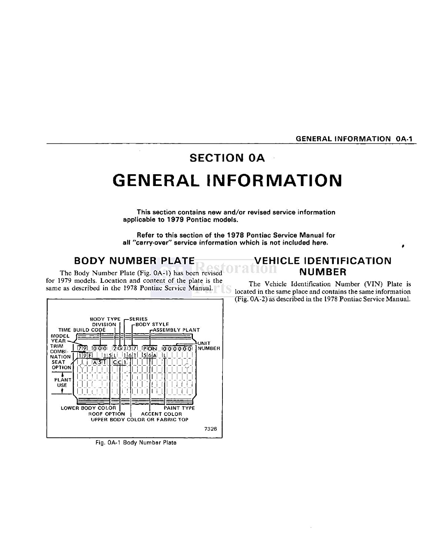 1979 Pontiac Bonneville Firebird Prix Shop Service Honda Ax 1 Wiring Diagram Repair Book Manual Engine Oem Automotive