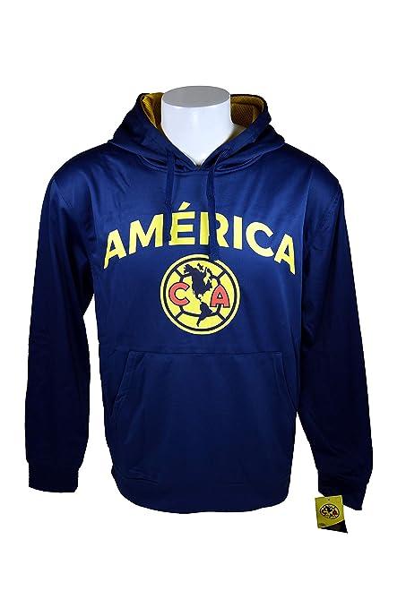Club América frontal chaqueta de forro polar sudadera oficial licencia fútbol sudadera con capucha 015,