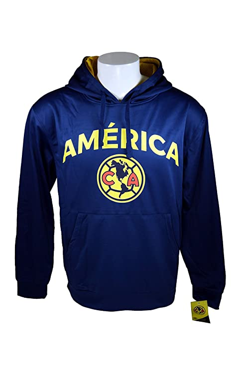 Club América frontal chaqueta de forro polar sudadera oficial licencia fútbol sudadera con capucha 014,