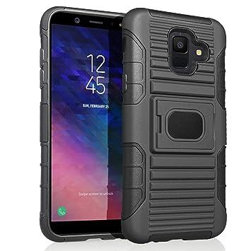 MIFanX Funda Samsung Galaxy J6 2018 Negro Tup Doble Estuche A Prueba De Golpes para Samsung Galaxy J6 2018 Desmontable PC
