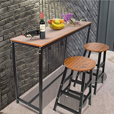 Bar Table, Bar Dining Table, Easy-to-Clean Counter Height Kitchen Table  Rectangular Pub Table, Folding Wood Bar Table, Vintage Bar Table Can Hold  150 ...