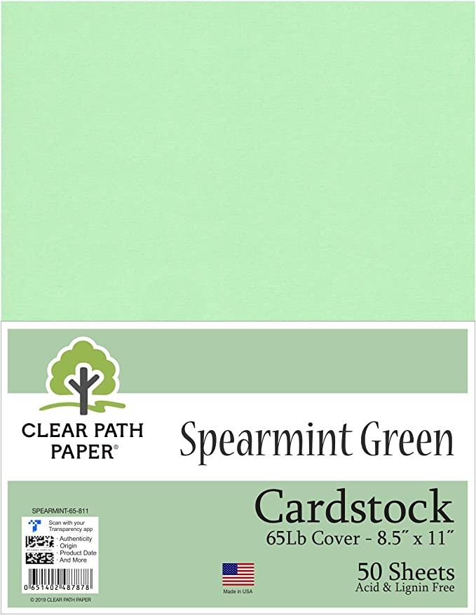 Menta verde cartulina – 8,5 x 11 pulgadas – 65LB Cover: Amazon.es: Juguetes y juegos