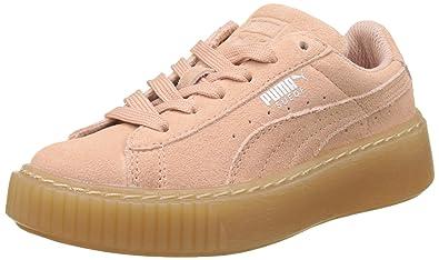 Puma Unisex Kinder Suede Platform SNK Jr Sneaker, Pink