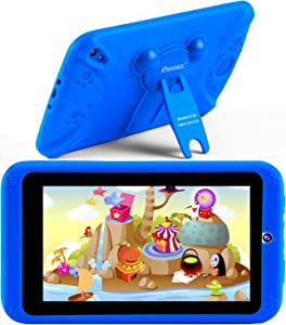 """PROGRACE Kids Tablets Android 9 QuadCore 2GB RAM 16GB ROM Learning Tablet for Kids Boys Toy Gift with Parental Control Toddler Children's Tablet IPS 7"""""""