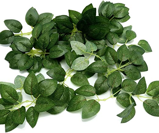 Amazon Com Febou Artificial Leaves 50 Pcs Real Touch Artificial Green Leaves Rose Flower Leaves Plant Leaf For Diy Wedding Bouquets Centerpieces Party Decorations Standard Type Green Leaves Furniture Decor