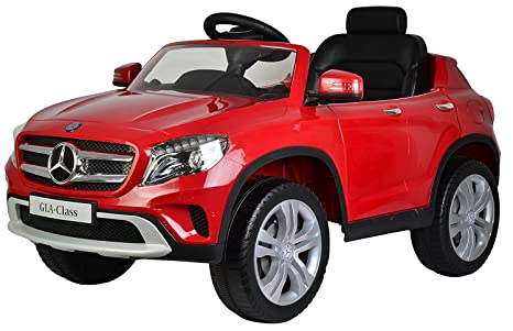 PA Toys Officially Licensed Mercedes Benz GLA Class 12V Battery Operated Ride on car for kids (Red) Electrical Vehicles at amazon